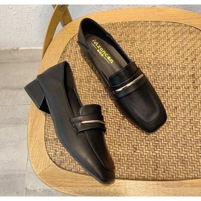 Черные балетки с квадратным носком