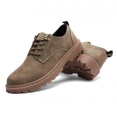 Низкие мужские ботинки светло коричневые