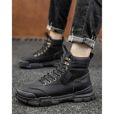 Высокие ботинки для парней черного цвета