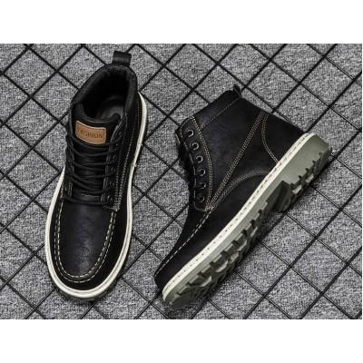 Водонепроницаемые ботинки мужские черного цвета