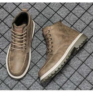 Водонепроницаемые ботинки мужские коричневого цвета