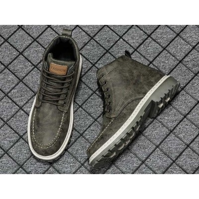 Водонепроницаемые ботинки мужские цвета хаки