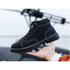 Тканевые мужские низкие ботинки черные