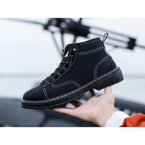 Тканинні чоловічі низькі черевики чорні