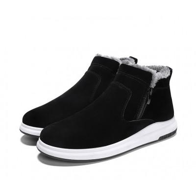 Зимние высокие мужские черные ботинки