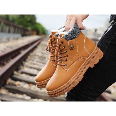 Мужские ботинки коричневые на зиму