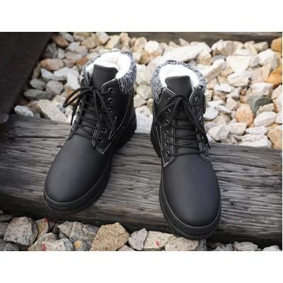 Мужские ботинки черные на зиму