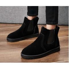 Замшевые ботинки угги черные