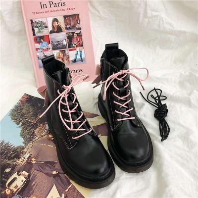 Женские ботинки с розовым бантом