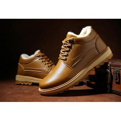 Лаковые мужские классические ботинки коричневые