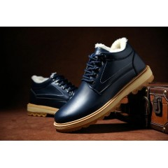 Лаковые мужские классические ботинки синие