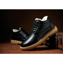 Лаковые мужские классические ботинки черные