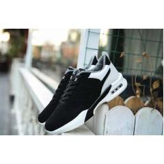 Спортивные теплые зимние черно белые кроссовки