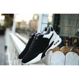 Спортивні теплі зимові чорно білі кросівки