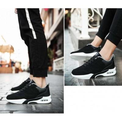 Спортивные теплые зимние черные кроссовки