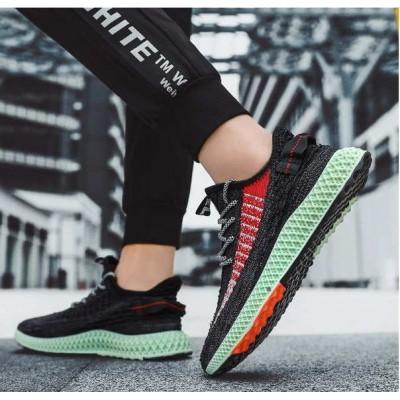 Тканевые черные легкие мужские кроссовки