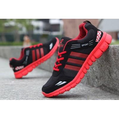Недорогие мужские летние кроссовки красный
