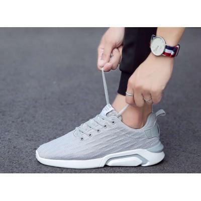 Классические серые мужские кроссовки