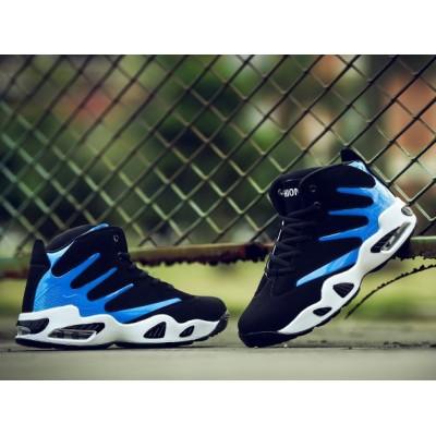 Спортивные крутые кроссовки черный + синий