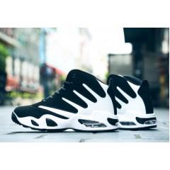 Спортивные крутые кроссовки черный + белый