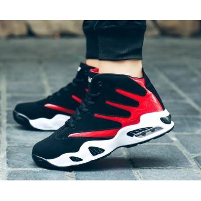 Спортивные крутые кроссовки черный + красный