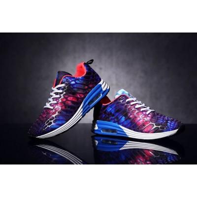 Мужские кроссовки с фиолетовым принтом космос