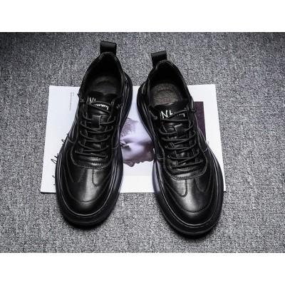 Повседневные спортивные черные мужские кроссовки