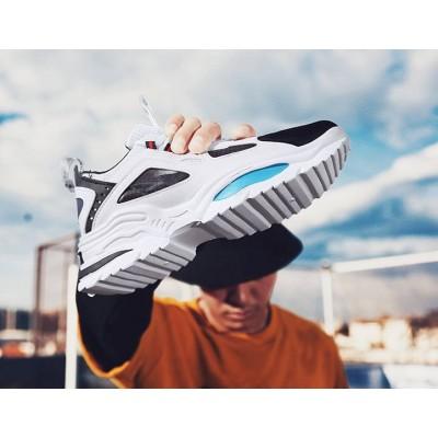 Универсальный мужские спортивные кроссовки черные+белый