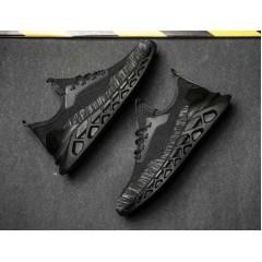 Черные дышащие кроссовки на лето
