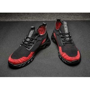 Дышащие кроссовки на лето черный + красный