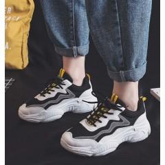 Универсальные кроссовки черные с рефлективными полосками