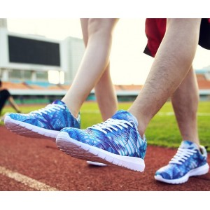Кросівки літні з синім принтом