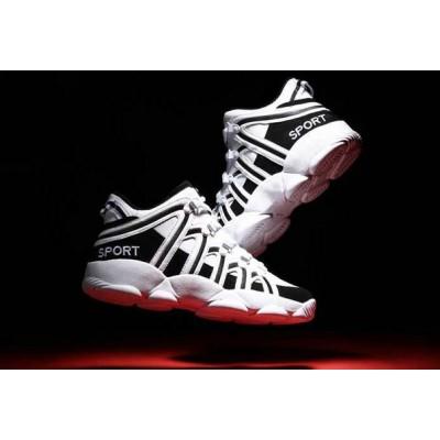 Белый с черным спортивные кроссовки высокие