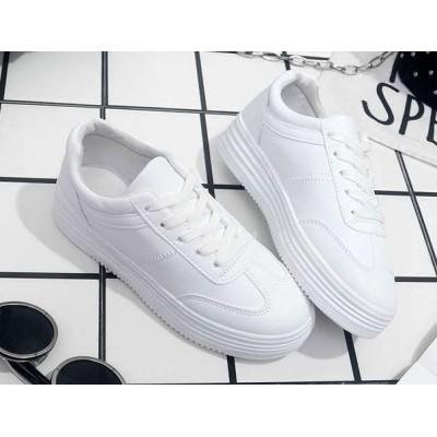 Чисто белые однотонные женские недорогие кроссовки