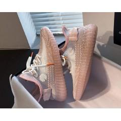 Светоотражающие летние розовые кроссовки