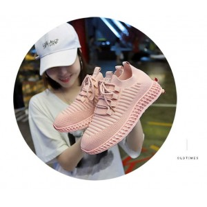 Жіночі рожеві кросівки сітка