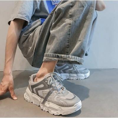 Серые кроссовки мужские со светоотражающими елементами