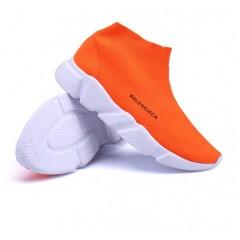 Оранжевый кроссовки носки Balenciaca недорого