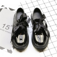 Лаковые черные ретро туфли
