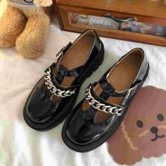 Туфлі Мері Джейн чорні з ланцюжком