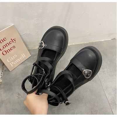 Вінтажні туфлі матові з ремінцями