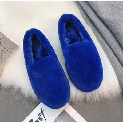Дешевые зимние синие мокасины для девушек