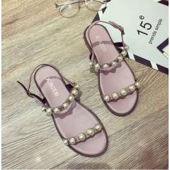 Летние розовые женские сандали недорогие