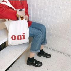 Туфли черные на низком ходу с ремешком