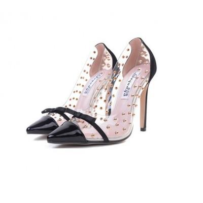 Женские черные туфли c бантиком недорого